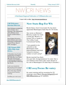 NWCRI Newsletter January 2015