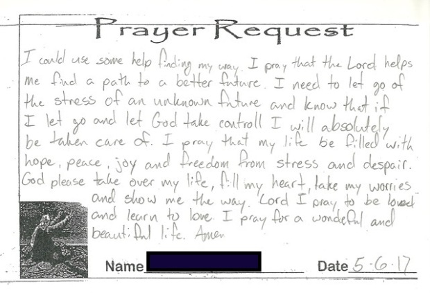 Inmate Prayer Request